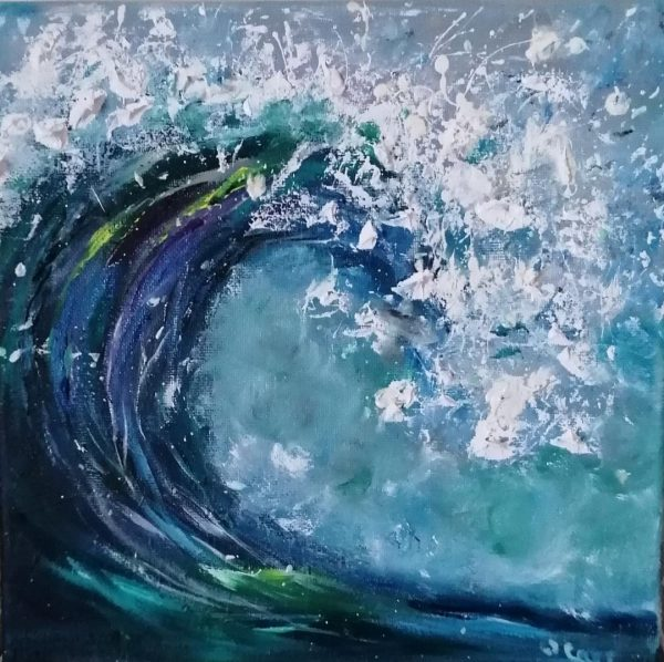 wave oil painting
